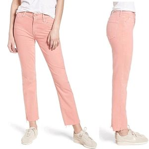 MOTHER Dusty Pink Rascal Ankle Sample Jeans